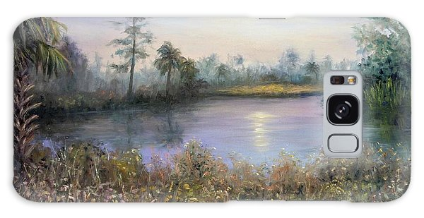 Marsh Wetland Moon Landscape Painting Galaxy Case