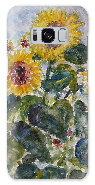 Martha's Sunflowers Galaxy Case