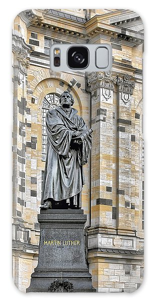 Martin Luther Galaxy Case - Martin Luther Monument Dresden by Christine Till