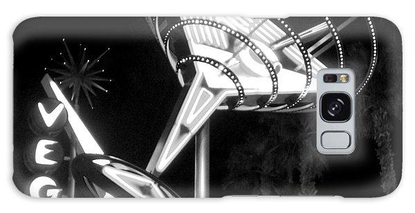 Martini Sign In Vegas B-w Galaxy Case