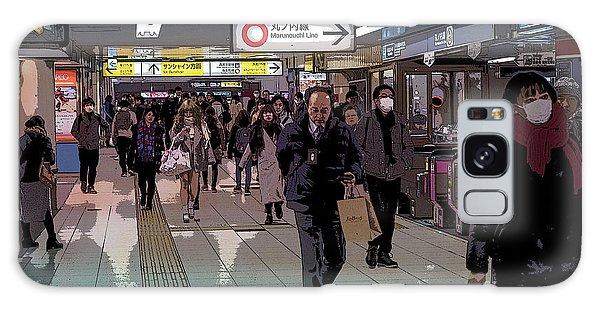 Marunouchi Line, Tokyo Metro Japan Poster Galaxy Case