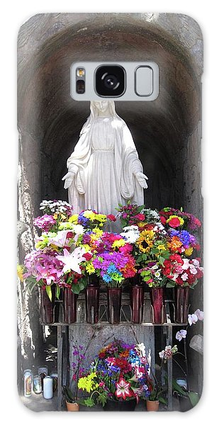 Mary At The Mission Galaxy Case by Mary Ellen Frazee