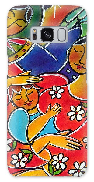 Galaxy Case featuring the painting Mary Blessed Mother by Jan Oliver-Schultz