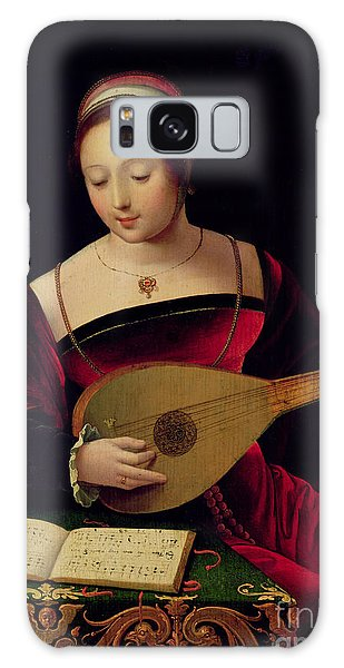 Mary Magdalene Playing The Lute Galaxy Case