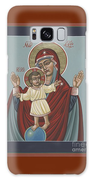 Galaxy Case featuring the painting Mary, Mother Of Mercy - Dedicated To Pope Francis In This Year Of Mercy 289 by William Hart McNichols