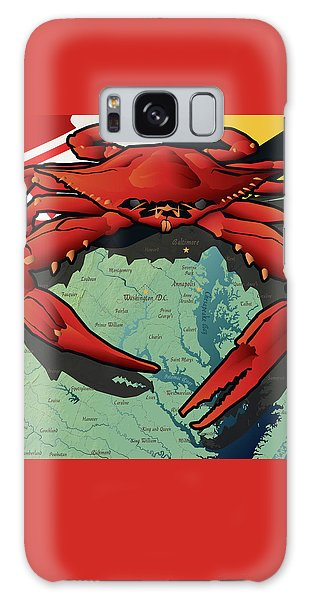 Maryland Red Crab Galaxy Case