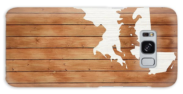 Traveler Galaxy Case - Maryland Rustic Map On Wood by Dan Sproul