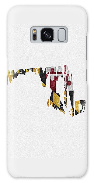 Maryland Typographic Map Flag Galaxy Case