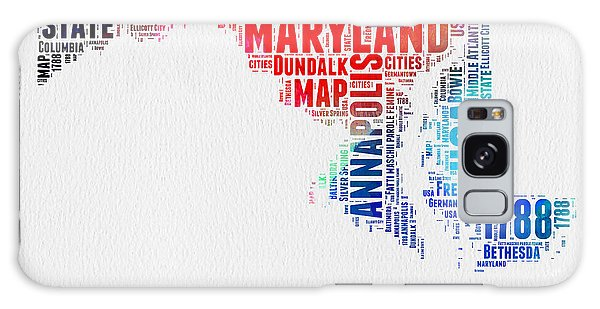 America Map Galaxy Case - Maryland Watercolor Word Cloud  by Naxart Studio