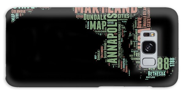 America Map Galaxy Case - Maryland Word Cloud 1 by Naxart Studio