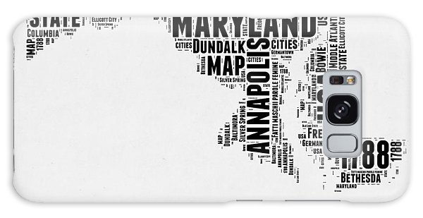 America Map Galaxy Case - Maryland Word Cloud 2 by Naxart Studio