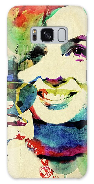Marilyn And Her Drink Galaxy Case by Mihaela Pater