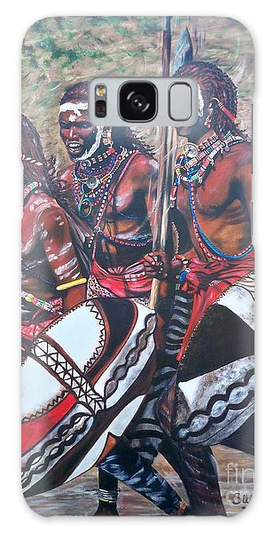 Masaai Warriors Galaxy Case by Sigrid Tune