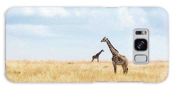 Masai Giraffe In Kenya Plains Galaxy Case