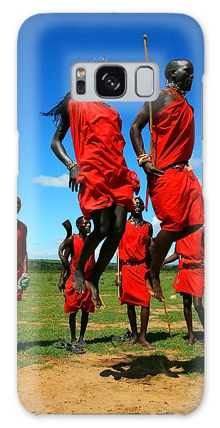 Masai Warrior Dancing Traditional Dance Galaxy Case