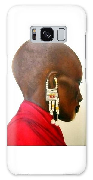 Masai Woman - Original Artwork Galaxy Case