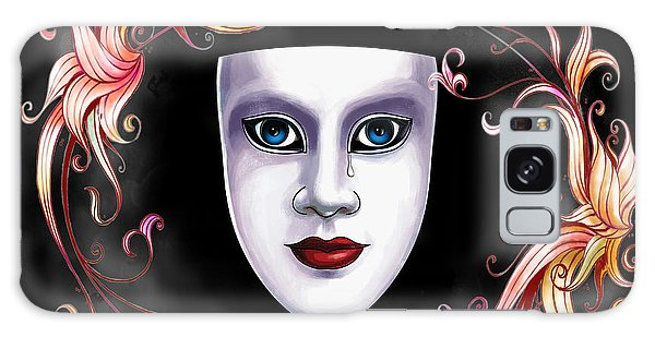 Mask And Vines Galaxy Case by Gary Crockett
