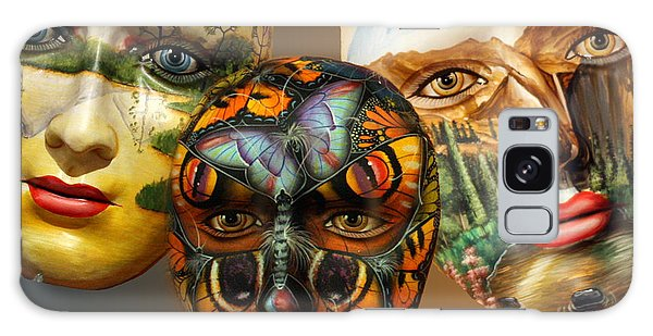 Masks On The Wall Galaxy Case