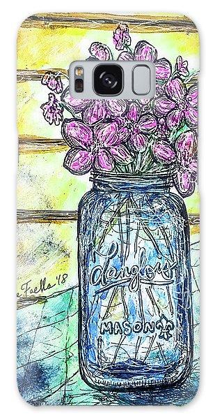 Mason Jar Bouquet Galaxy Case