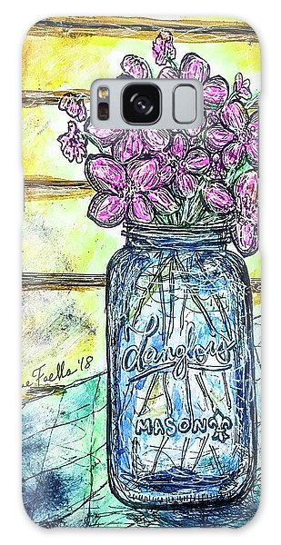 Mason Jar Bouquet Galaxy Case