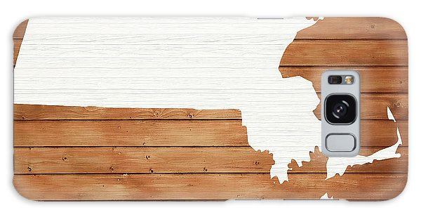 Traveler Galaxy Case - Massachusetts Rustic Map On Wood by Dan Sproul