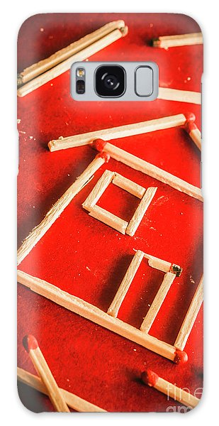 Safe Galaxy Case - Matchstick Houses by Jorgo Photography - Wall Art Gallery