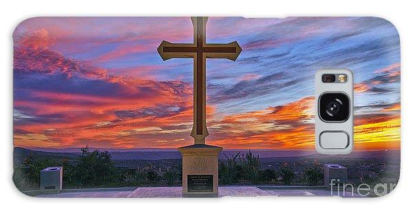 Christian Cross And Amazing Sunset Galaxy Case