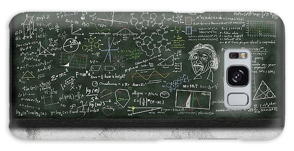Maths Formula On Chalkboard Galaxy Case by Setsiri Silapasuwanchai