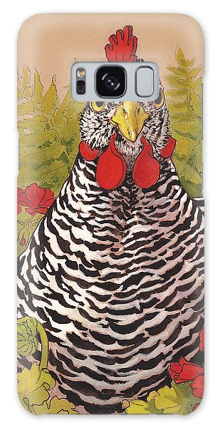 Chicken Galaxy Case - Matilda In The Geraniums by Tracie Thompson
