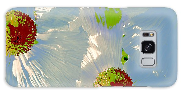Matilija Poppies Pop Art Galaxy Case by Ben and Raisa Gertsberg