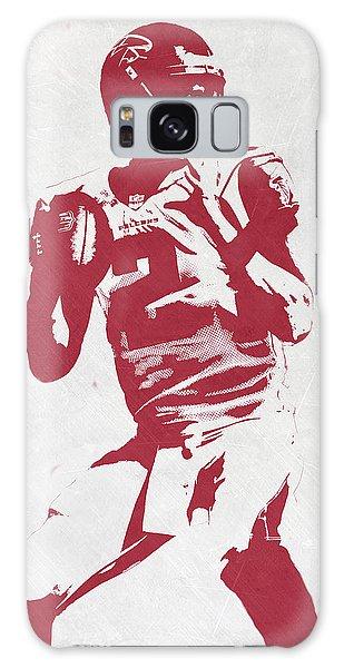 Matt Ryan Atlanta Falcons Pixel Art 2 Galaxy Case by Joe Hamilton
