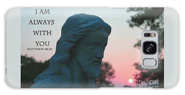 Matthew 28/20 - Jesus Statue Galaxy Case
