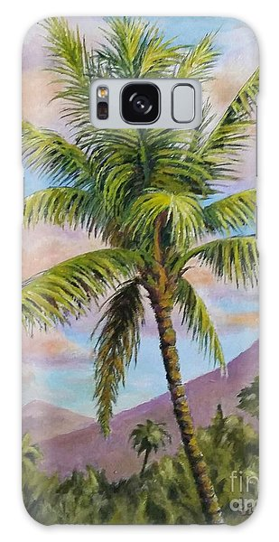 Maui Palm Galaxy Case by William Reed
