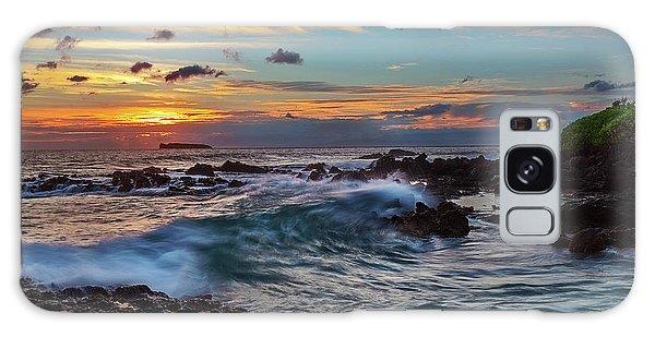 Maui Sunset At Secret Beach Galaxy Case