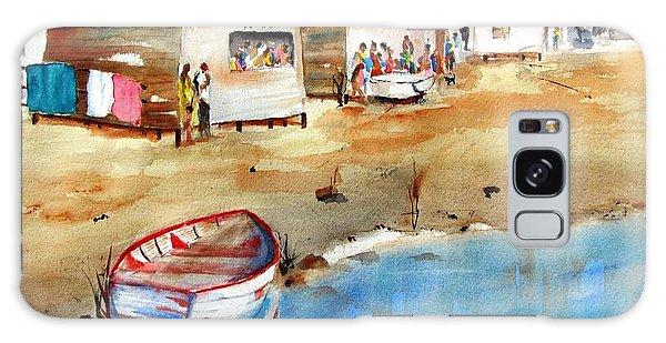 Mauricio's Village - Beach Huts Galaxy Case
