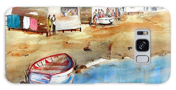 Mauricio's Village - Beach Huts Galaxy Case by Carlin Blahnik