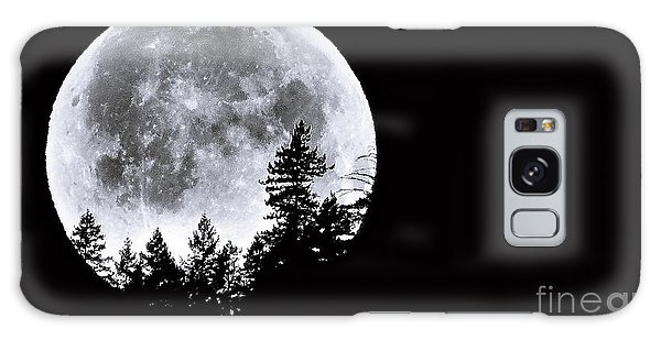 May 4 Moon Set Galaxy Case