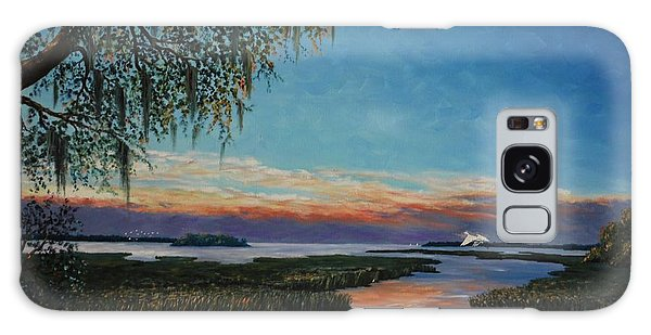 May River Sunset Galaxy Case