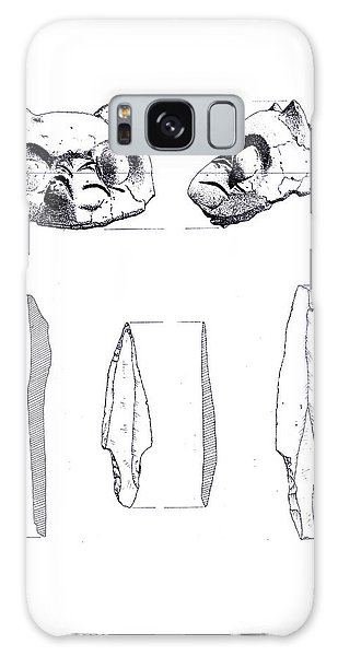 Maya Cat Head And Stone Tools Galaxy Case