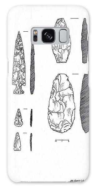 Maya Stone Tools Galaxy Case