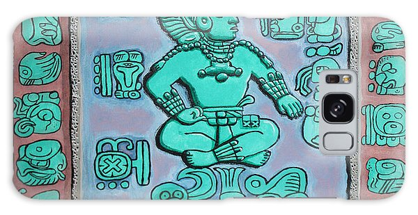 Galaxy Case featuring the painting Mayan Prince by Antonio Romero