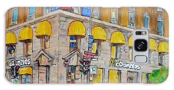 Mcdonald Restaurant Old Montreal Galaxy Case