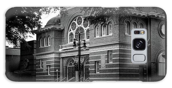 Mcglohon Theatre At Spirit Square In Black And White Galaxy Case