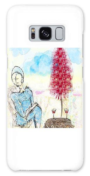 Me, Myself And Wine Galaxy Case by Gabrielle Schertz