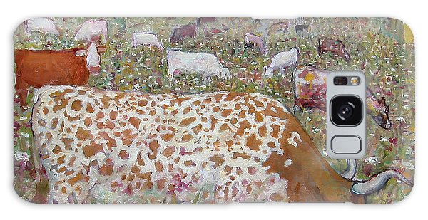 Meadow Farm Cows Galaxy Case
