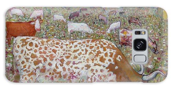 Meadow Farm Cows Galaxy Case