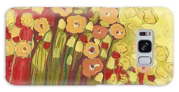 Floral Garden Galaxy Case - Meadow In Bloom by Jennifer Lommers