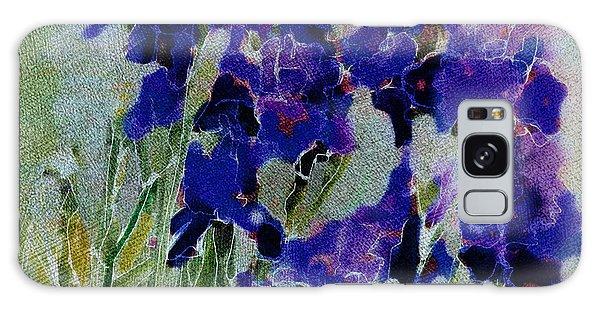 Meadow Iris Galaxy Case by Linde Townsend