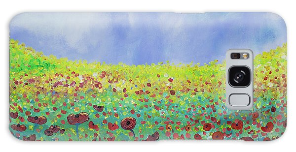 Meadow Of Poppies  Galaxy Case