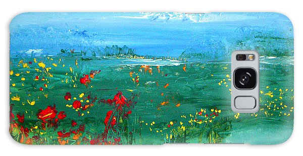 Meadow Pond By Colleen Ranney Galaxy Case